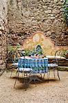 Breakfast Outdoors, Caunes-Minervois, Aude, Languedoc-Roussillon, France