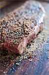 Close-Up of Seasoned Steak