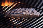 Grilled Steak on Barbeque