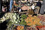 Obst und Gemüse Markt Stand, Asni, vor Marrakesch, Marokko, Nordafrika, Afrika