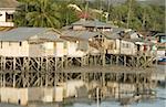 Dans les poulaillers de l'ancienne capitale port, Tagbilaran, Bohol, Philippines, Asie du sud-est, Asie