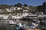 Port de Polperro, Cornwall, Angleterre, Royaume-Uni, Europe