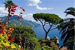 Avis de Rufolo, Ravello, Amalfi Coast, patrimoine mondial de l'UNESCO, Campanie, Italie, Europe