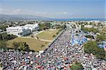 Memorial Day Feier im National Palace, einen Monat nach dem Erdbeben von Januar 2010 Port au Prince, Haiti, West Indies, Karibik, Mittelamerika