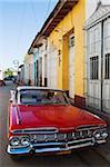 Chevrolet, classic 1950s American car, Trinidad, UNESCO World Heritage Site, Cuba, West Indies, Caribbean, Central America