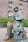 Hans Christian Andersen statue, Copenhagen, Denmark, Scandinavia, Europe