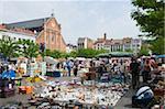 Place du Jeu de Balle flea market, Brussels, Belgium, Europe
