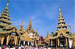 Shwe Dagon Pagoda (Shwedagon Paya), Yangon (Rangoon), Myanmar (Burma), Asia