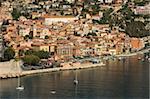 Vue depuis l'hélicoptère de Villefranche, Alpes-Maritimes, Provence, Côte d'Azur, French Riviera, France, Méditerranée, Europe