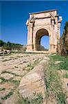 Severan arch (Settimio Severo arch), Leptis Magna, UNESCO World Heritage Site, Tripolitania, Libya, North Africa, Africa