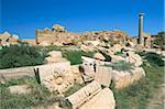 Leptis Magna, UNESCO World Heritage Site, Tripolitania, Libya, North Africa, Africa