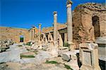 Forum Sévérien, Leptis Magna, Site du patrimoine mondial de l'UNESCO, la Tripolitaine, la Libye, en Afrique du Nord, Afrique