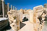 Basilique sévérienne, Leptis Magna, Site du patrimoine mondial de l'UNESCO, la Tripolitaine, la Libye, en Afrique du Nord, Afrique