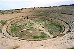 Amphithéâtre, Leptis Magna, Site du patrimoine mondial de l'UNESCO, la Tripolitaine, la Libye, en Afrique du Nord, Afrique