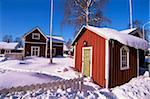 Gammelstad (vieille ville de Lulea) patrimoine mondial de l'UNESCO, Laponie, Suède, Scandinavie, Europe
