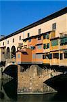 Ponte Vecchio over Arno River, Florence, Tuscany, Italy, Europe