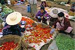 Market, Heho, Shan State, Myanmar (Burma), Asia