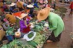 Marché, Heho, État Shan, au Myanmar (Birmanie), Asie