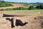 Etruscan Necropolis of Ara del Tufo, Tumulus Tomb, Tuscania, Viterbo, Lazio, Latium, Italy, Europe