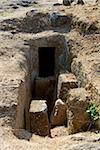Tombe, la nécropole étrusque de Ara del Tufo, Tuscania, Viterbo, Latium, Latium, Italie, Europe