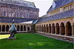 Cloisters, Iona Abbey, Isle of Iona, Scotland, United Kingdom, Europe