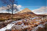 Buachaille Etive Mor and River Coupall, Glen Coe (Glencoe), Highland region, Scotland, United Kingdom, Europe
