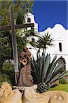 Father Junipero Serra statue, Mission Basilica San Diego de Alcala, San Diego, California, United States of America, North America