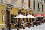 El Mural Bar in the English Quarter of Coquimbo Port, Norte Chico Region, Chile, South America