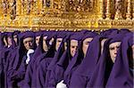 Semana Santa (Semaine Sainte) célébrations, Malaga, Andalousie, Espagne, Europe