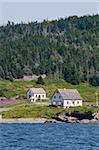 Historische Siedlung auf Ile Bonaventure offshore Perce, Quebec, Kanada, Nordamerika