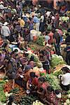 Marché couvert végétal, Chichicastenango, au Guatemala, Amérique centrale