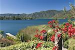 Lac Atitlan, près de Santiago Atitlan, au Guatemala, l'Amérique centrale