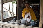 Wallah de chai village (24.5.1) rend la première bière de la journée, Kurua village, Assam, Inde, Asie