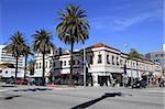 Ocean Avenue, Santa Monica, Los Angeles, Californie, États-Unis d'Amérique, l'Amérique du Nord