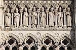 Galerie des rois, cathédrale d'Amiens, patrimoine mondial de l'UNESCO, Amiens, Somme, France, Europe