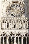 Galerie des rois, cathédrale d'Amiens, patrimoine mondial de l'UNESCO, Somme, France, Europe