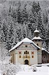 Église Notre-Dame de la Gorge, Les Contamines, Haute Savoie, France, Europe