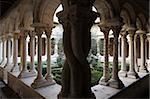 Cloître de cathédrale de Saint-Sauveur, Aix-en-Provence, Bouches du Rhône, Provence, France, Europe