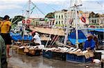 Le port de Belém, Brésil, Amérique du Sud