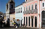 Nossa Senhora do Rosario dos Pretos cathédrale dans le quartier de Pelourinho, patrimoine mondial de l'UNESCO, Salvador de Bahia, Brésil, Amérique du Sud
