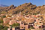 Petit village près de Tafraoute, Maghreb, Maroc