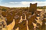 The ruined old caravan center of Ouadane, UNESCO World Heritage Site, Mauritania, Africa