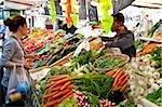 People shopping at market, Place Monge, Paris, France, Europe