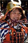 Bushido samurai warrior wearing costume at the Shunki Reitaisai festival in Nikko, Tochigi, Japan, Asia