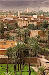 Panorama of Figuig, province of Figuig, Oriental Region, Morocco, North Africa, Africa