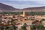 Panorama de Figuig, province de Figuig, Oriental région Norht Maroc, Afrique
