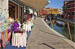 Dentelle pour vente, Burano, Venise, Vénétie, Italie, Europe