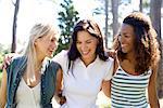 Friendship. Group of female friends socialising.