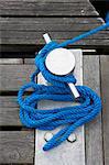 Gros plan du câble et du taquet, Avik, Aust-Agder, Norvège