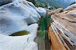 Rock Formations Created by Verzasca River, Lavertezzo, Locarno, Canton of Ticino, Switzerland